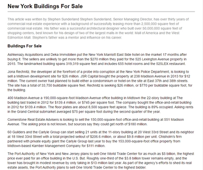 NYC Buildings For Sale