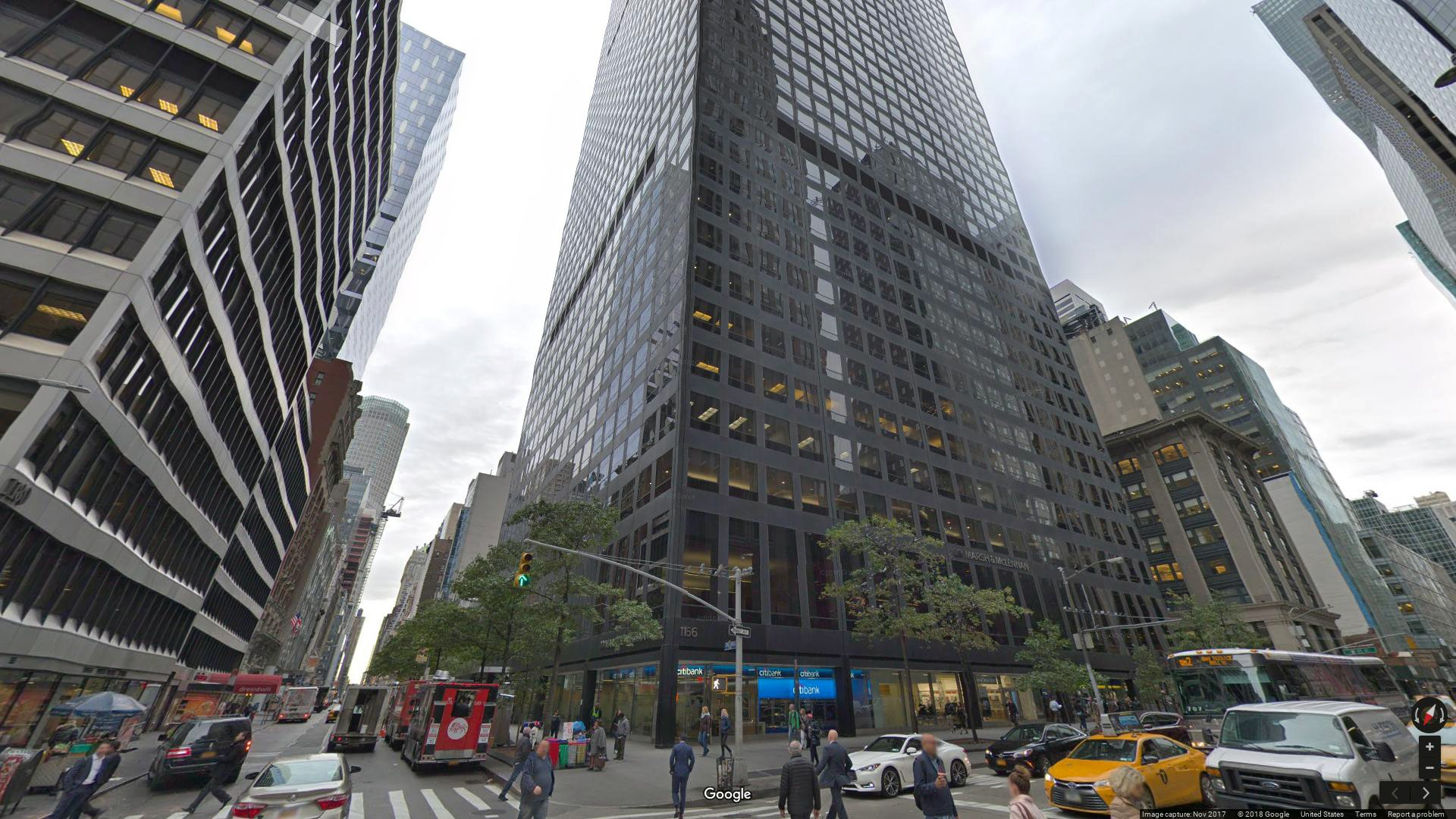 lease office 1166 avenue of the americas