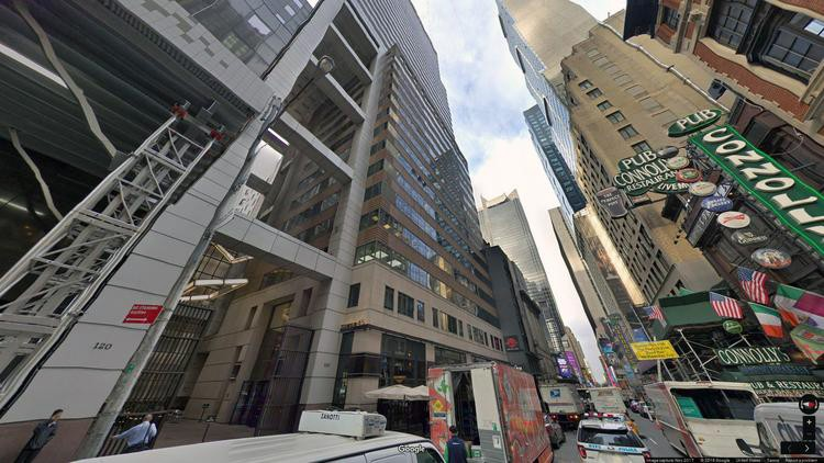lease office 120 west 45th street