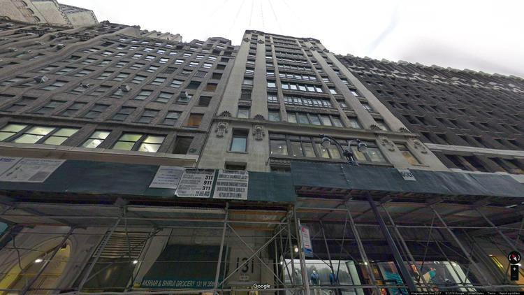 lease office 131 west 35th street
