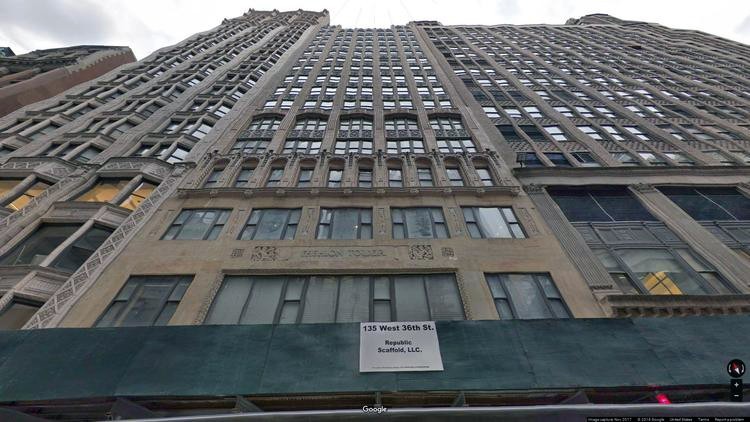 rent office 135 west 36th street