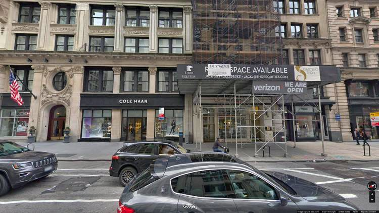 rent office 139 fifth avenue