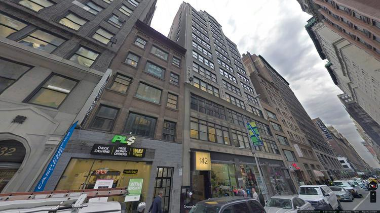 lease office 142-148 west 36th street