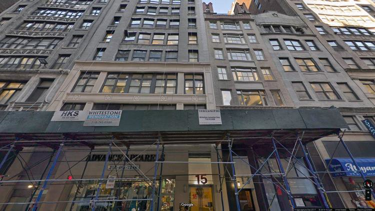 rent office 15 west 36th street