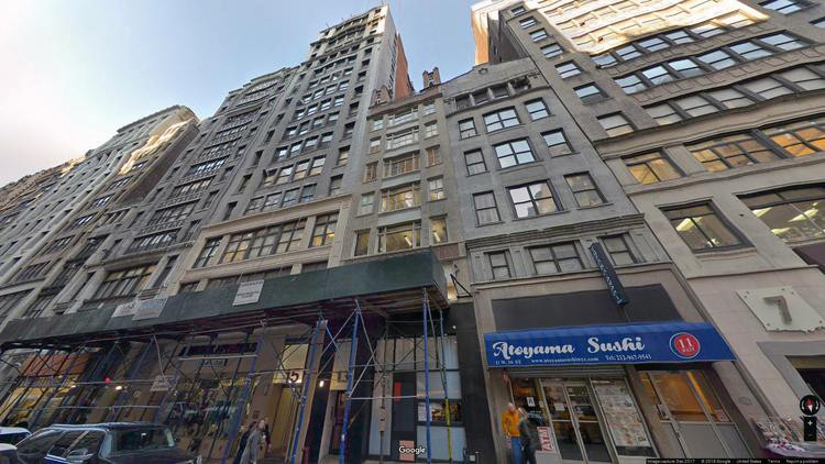 lease office 15 west 36th street