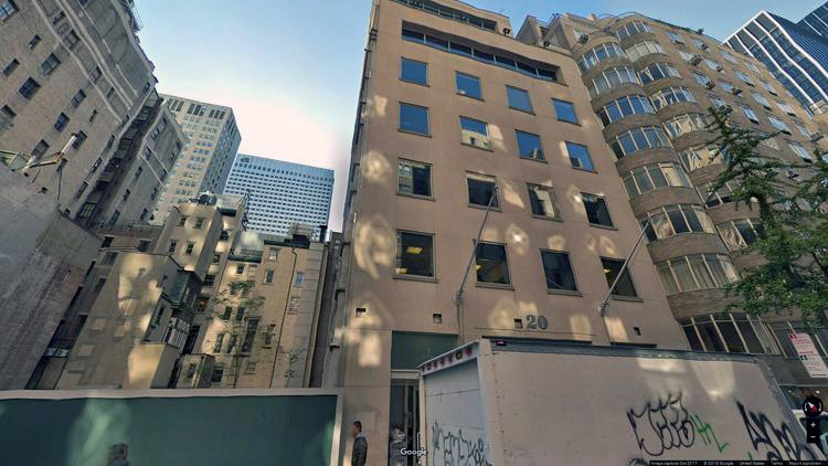 lease office 20 west 55th street