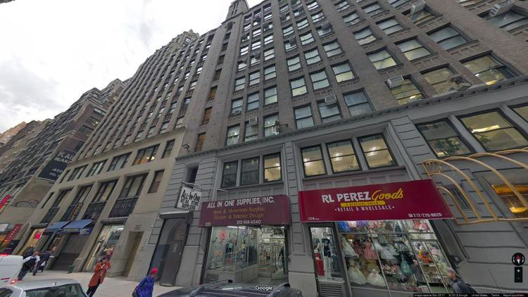 rent office 223-225 west 35th street