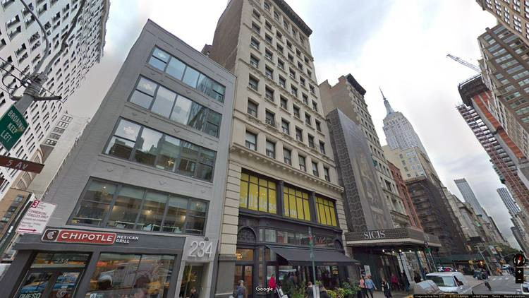 lease office 234 fifth avenue