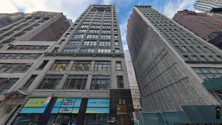 lease office 29 west 38th street
