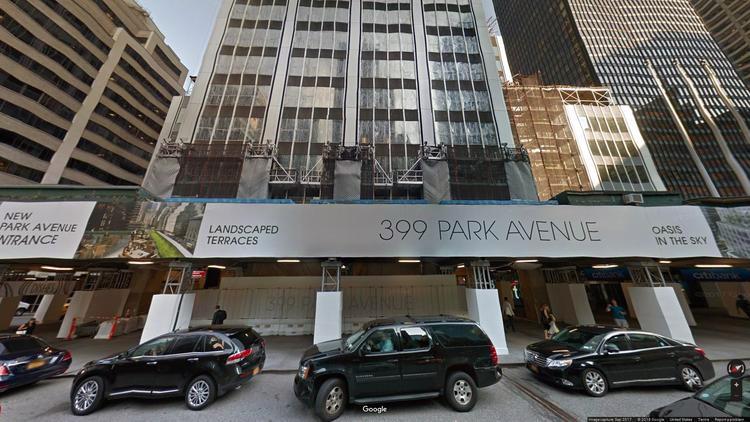 rent office 399 park avenue