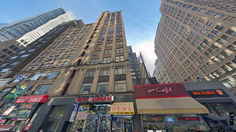 lease office 580 eighth avenue