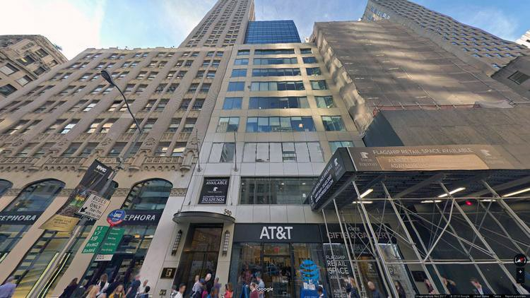 lease office 590 fifth avenue