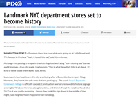 Landmark NYC department stores set to become history